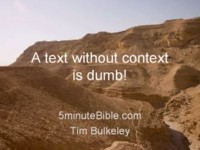 A Text without Contexts is Dumb!