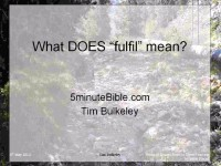 "What DOES ""fulfil"" mean?"