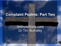 Complaint Psalms: Part Two