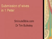 Submission of wives  in 1 Peter