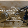 """Reading the Bible Faithfully"" announcement"