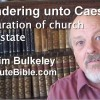 Rendering unto Caesar:  separation of church and state