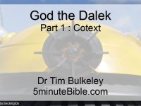 God the Dalek (Part One): Cotext
