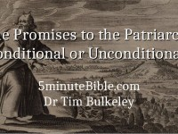 The Promises to the Patriarchs Conditional or Unconditional?